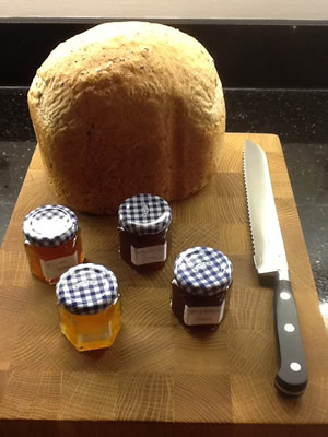 Home made bread and preserves